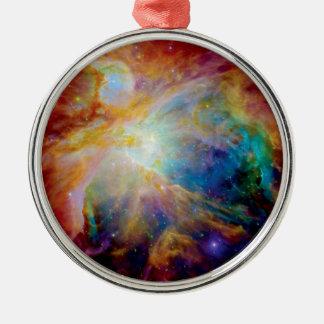 Orion Nebula Silver-Colored Round Ornament