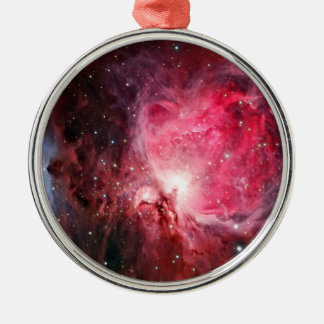Orion nebula Silver-Colored round ornament