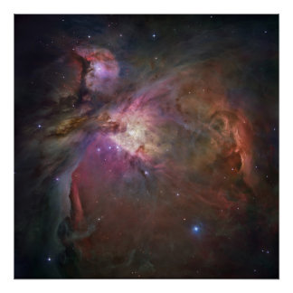 Orion Nebula Square Poster