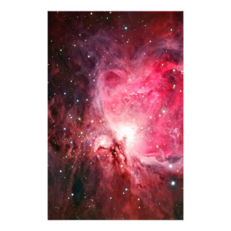 Orion nebula stationery design