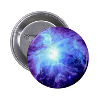 Orion Nebula Turquoise Periwinkle Lavender Galaxy 2 Inch Round Button