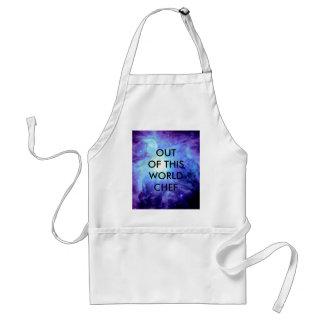 Orion Nebula Turquoise Periwinkle Lavender Galaxy Standard Apron