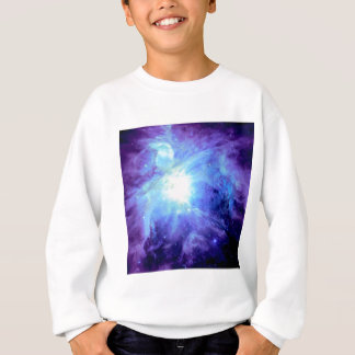 Orion Nebula Turquoise Periwinkle Lavender Galaxy Sweatshirt