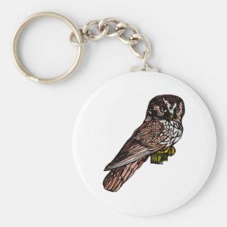 Orion Owl Basic Round Button Keychain