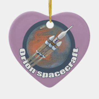 Orion Spacecraft Ceramic Heart Ornament