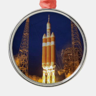 Orion Spacecraft Liftoff Silver-Colored Round Ornament