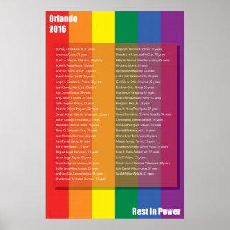 Orlando 2016 Memorial Poster, 24x36 Poster