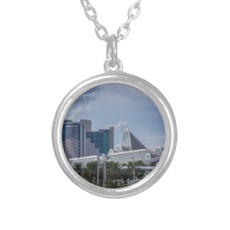 Orlando Aerial View Silver Plated Necklace