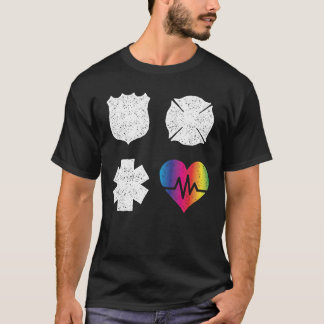Orlando First Responders Pulse Heart Love T-Shirt