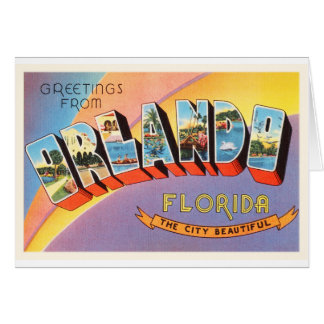 Orlando Florida FL Old Vintage Travel Souvenir Card