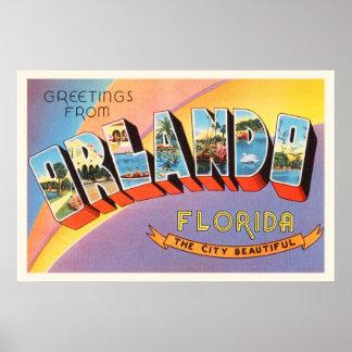 Orlando Florida FL Old Vintage Travel Souvenir Poster