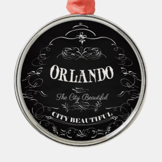 Orlando Florida - The Beautiful City Metal Ornament