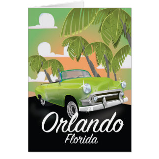 Orlando Florida vintage travel poster Card
