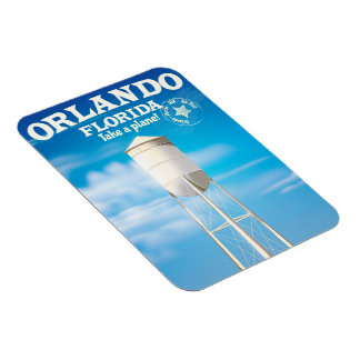Orlando, Florida Water Tower travel print. Magnet