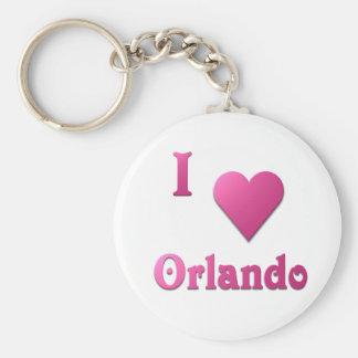 Orlando -- Hot Pink Keychain