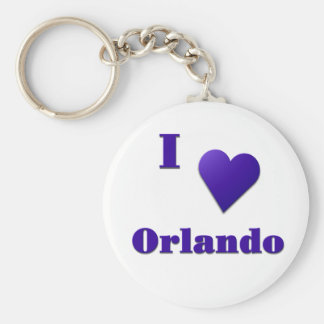 Orlando -- Midnight Blue Keychain