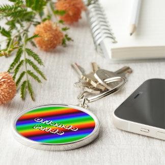 Orlando Pride Silver-Colored Round Keychain