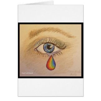 Orlando Rainbow Teardrop by Carol Zeock Card