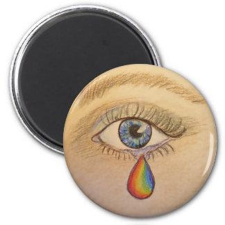 Orlando Rainbow Teardrop by Carol Zeock Magnet