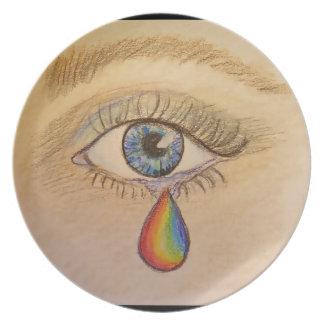 Orlando Rainbow Teardrop by Carol Zeock Plate