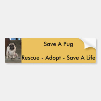 "Orlando ""Save A Pug"" Bumper Sticker"