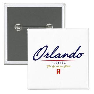 Orlando Script Pinback Button