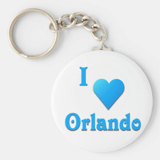 Orlando -- Sky Blue Keychain