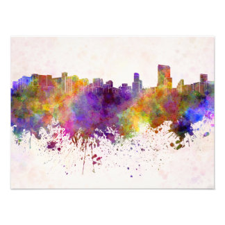 Orlando skyline in watercolor background foto