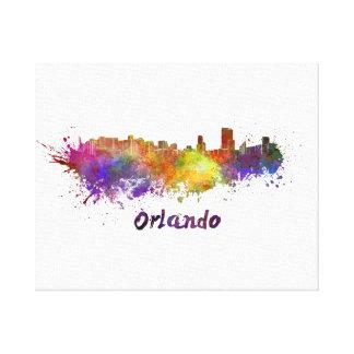 Orlando skyline in watercolor canvas print
