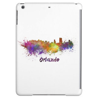 Orlando skyline in watercolor case for iPad air