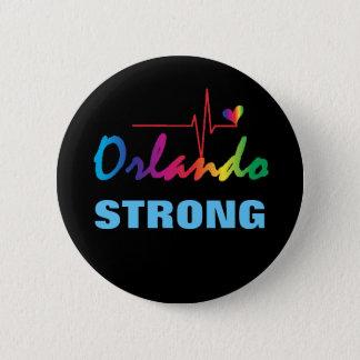Orlando Strong Rainbow Pulse Heart LGBT Round 2 Inch Round Button