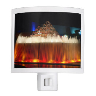 Orlando Theme Park Illuminated Fountain Night Lights