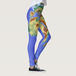 orld Map Leggins School Time Leggings