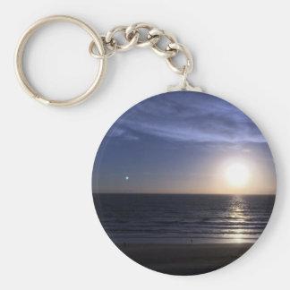 Ormond Beach Sunrise Basic Round Button Keychain