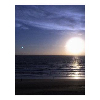 Ormond Beach Sunrise Letterhead Template