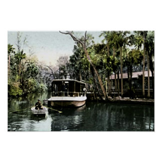 Ormond, Florida Tourist Excursion Boat Poster