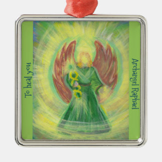 Ornament: Archangel Raphael Metal Ornament