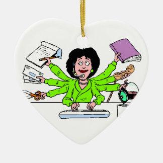 ornament, best, secretary, christmas ceramic ornament