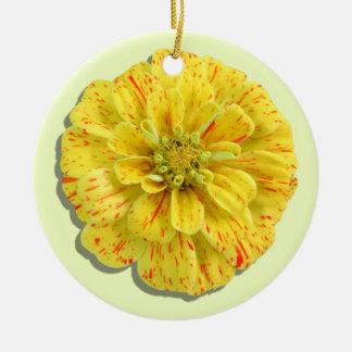 Ornament - Candy Stripe Zinnia