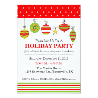 Ornament Christmas or Holiday Party Invitation