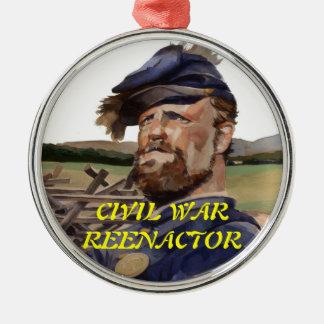 Ornament, Civil War Reenactor Metal Ornament
