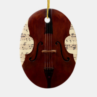 Ornament - Double Bass close-up with sheet music