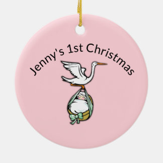 Ornament for Baby Girls First Christmas