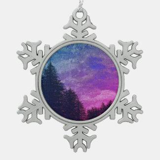 "Ornament ""Golden Sunset Pines"" by All Joy Art"