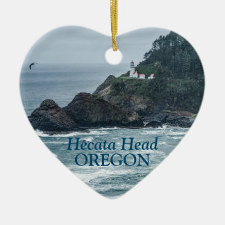 Ornament: Hecata Head Lighthouse (Heart) Ceramic Ornament