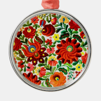 ornament, hungarian, embroidery, kalocsai metal ornament