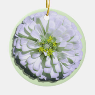 Ornament - Lemony White Zinnia