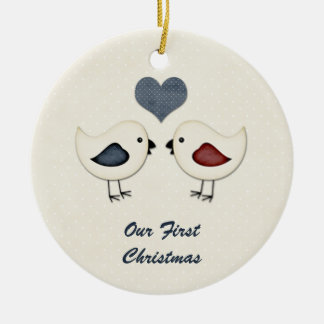 Ornament Love Birds First Christmas
