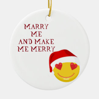 ORNAMENT ***MARRY ME*** WITH WINKING SANTA