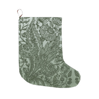 Ornament Moss Green Romantic Large Christmas Stocking